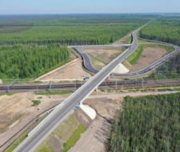На Санкт-Петербургском Южном полукольце в Ленинградской области построен новый путепровод у станции Мга