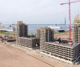 Строительная готовность VI квартала Golden City растет